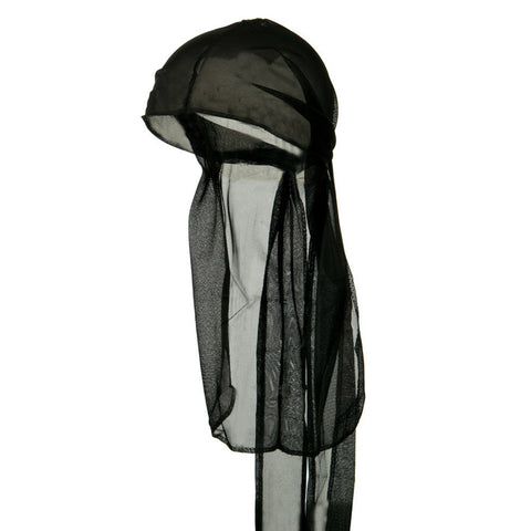 Black Wave Cap Sexy Tie Down Durag Cap Cool Nylon Sporty and Fashionable Long and Short Hair