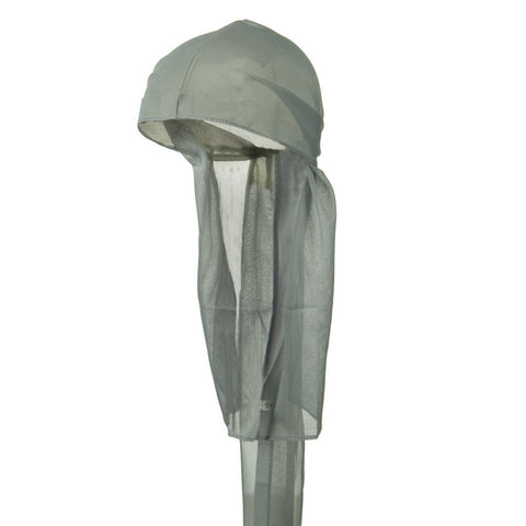 CLEARANCE Gray Wave Cap Sexy Tie Down Grey Durag Cap Cool Nylon Sporty and Fashionable Long and Short Hair