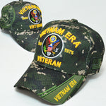 VIETNAM ERA VETERAN BASEBALL CAP DIGITAL CAMOUFLAGE EMBROIDERED U.S. ARMY HAT DIGI CAMO