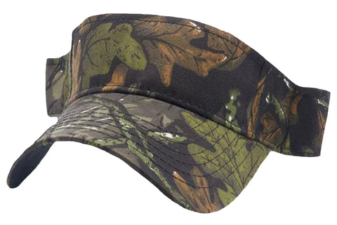 Camouflage Golf Visor Camo Hunting Visors Military Mossy Moss Oakleaf