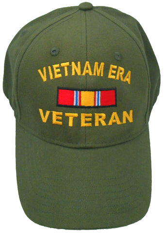 Vietnam ERA Veteran OD GREEN Baseball Cap Military Vet Adjustable One Size Hat