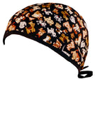 Surgical Scrub Cap Puppy Dogs with SWEATBAND MADE IN THE USA Doctors Surgeon Hat