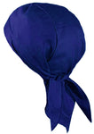 ROYAL BLUE Doo-Rag Skull Cap Solid with a Sweatband Cotton Helmet Liner MADE IN THE USA