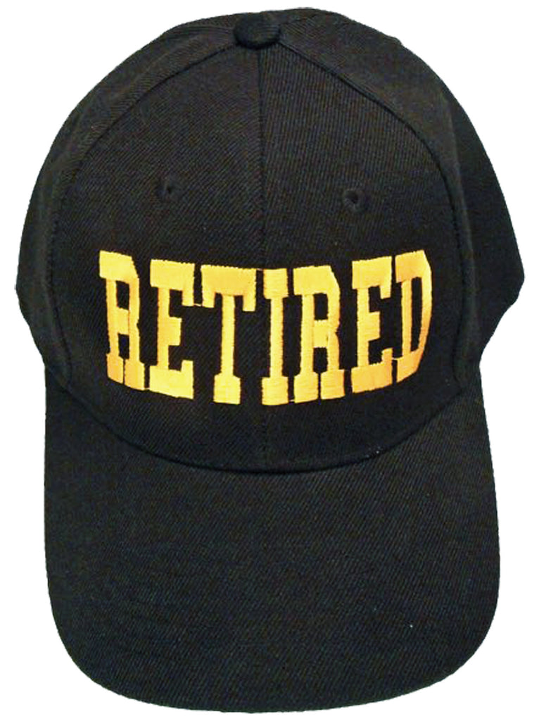 RETIRED Black Baseball Cap Retiree Hat Retirement Party Headwear for T –  Buy Caps and Hats d3c0724018b
