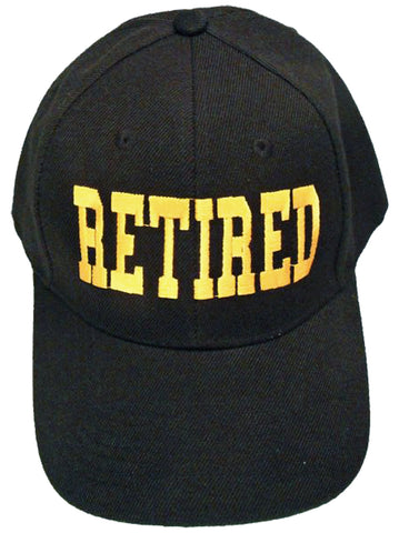 Retired Cap Retirement Hat | Gift for Retirement Party | Teacher Military Boss Family Co-Worker