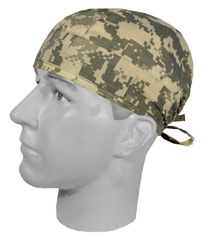 Surgical Scrub Cap Digital Camouflage with SWEATBAND MADE IN THE USA