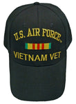 US Air Force Vietnam Vet Baseball Cap Black Veteran Hat