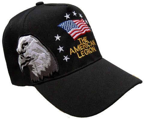 A.Legion Baseball Cap Black Patriotic Hat