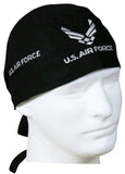 Air Force Black Doo Rag Du Rag Military Biker Skull Cap Cotton Motorcycle