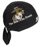 U.S. Marine Corps Doo Rag Cap Marines Bandana Head Wrap Do Hat Made in America