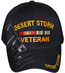 DESERT STORM Black Baseball Cap Officially Licensed Hat Army Navy Air Force Marine