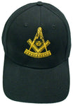 Mason Hat Black Past Master Baseball Cap with Masonic Logo Freemasons Shriners Prince Hall Lodge Headwear