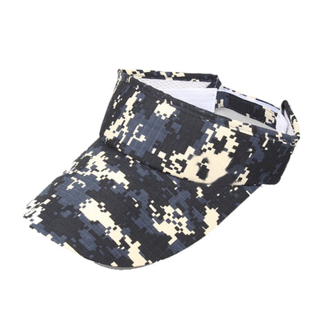 Camouflage Golf Visor Hunting Visors Military Blue and White Digital Digi Camo