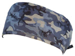 Camouflage Nursing Scrub Hat Scrubs Cap, Cotton, Navy Blue Camo with Black