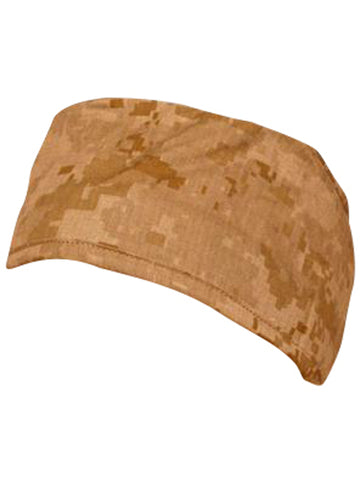 Desert Brown and Sand Digital Camo Surgical Scrub Cap w/ Sweatband MADE IN THE USA Doctors Surgeon Hat for Men Women