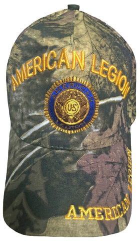 A.Legion Baseball Cap Camouflage Patriotic Hat Tree Branches Camo Leaf