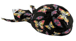 Ladies Doo Rag Colorful Rainbow Butterfly Head Wrap for Womens Durag Chemo Cap Cotton Motorcycle Hat