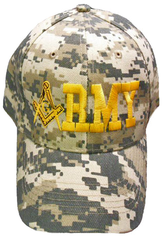 ARMY ACU Digital Camouflage Masonic Baseball Cap Camo Mason Logo Hat for Freemasons Shriners Prince Hall Masons Headwear