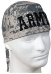 Camouflage ARMY ACU Desert Digital Head Wrap Doo Rag Camo Durag Skull Cap Cotton Sporty Motorcycle Hat
