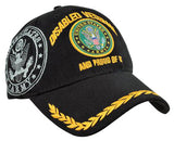 U.S. Army Hat Black Logo Disabled Veteran Baseball Cap with Wreath Military Headwear