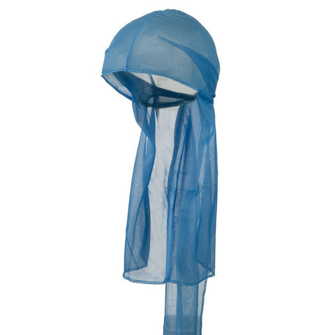 Light Blue Wave Cap Sexy Tie Down Durag Cap Cool Nylon Sporty and Fashionable Long and Short Hair