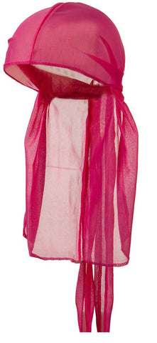 CLEARANCE Hot Pink Wave Cap Sexy Tie Down Du-rag Cool Satin Stocking Sleep Hat for Hair Waves