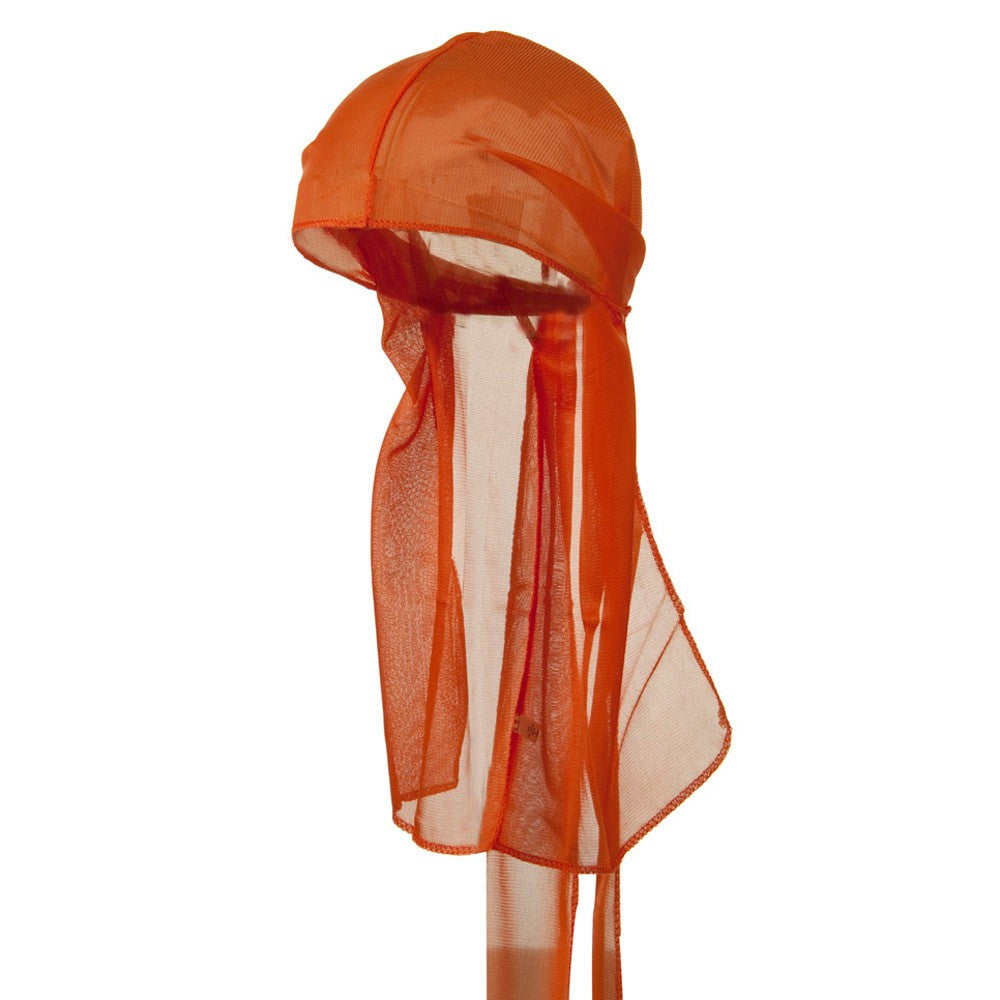 Orange Wave Cap Sexy Tie Down Durag Cap Cool Nylon Sporty