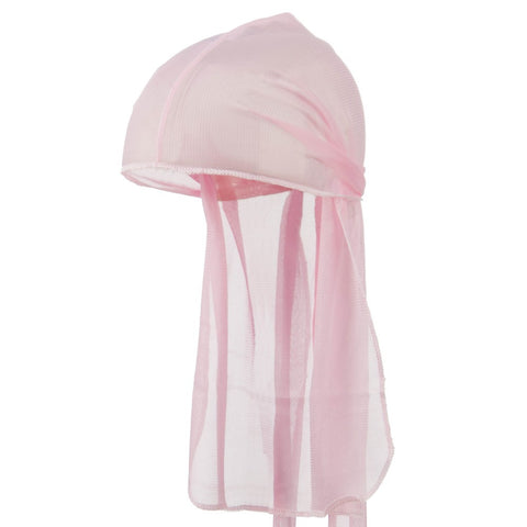 Pink Wave Cap Sexy Tie Down Grey Durag Cap Cool Nylon Sporty and Fashionable Long and Short Hair