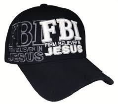 Christian Baseball Cap, FBI, Firm Believer In JESUS, Black Religious Hat Adjustable Embroidered