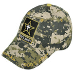 Christian Baseball Cap, God's ARMY, Camouflage Religious Hat Adjustable Embroidered