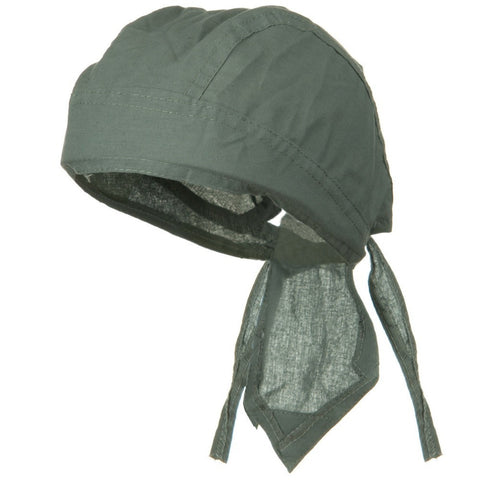CLEARANCE Gray Solid Doo Rag Grey Headwrap Durag Skull Cap Cotton Sporty Motorcycle Hat