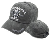 Vietnam ERA Veteran Hat Military Baseball Cap, Mens Womens, Gray and Black Cotton