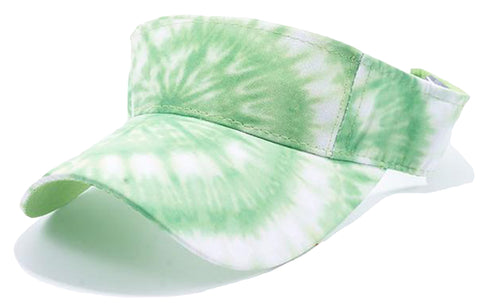 Tie Dye Golf Visor Green and White 1960s Sun Visors Hippie Hippy 60s Woodstock Tye Die