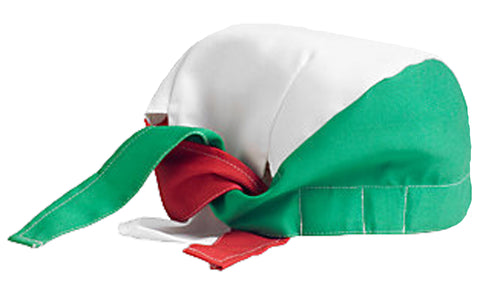 Chef Dorag Cap Cooks Hat Solid Red, Green and White