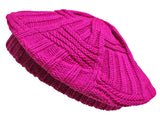 CLEARANCE Winter Crochet Beret Hat, Cold Weather Knitted Slouchy, Ladies Fashion, Vibrant Colors