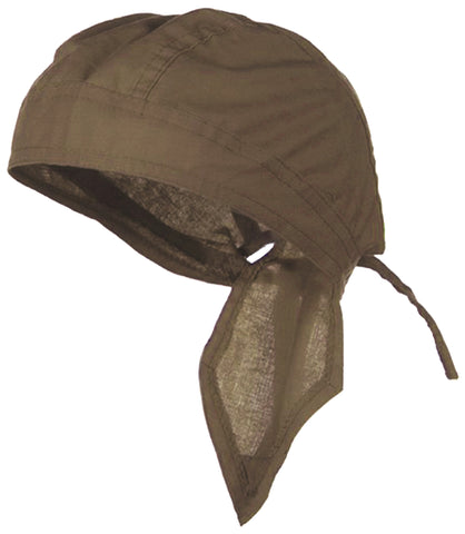LIGHT BROWN Doo-Rag Skull Cap Solid Du-Bandana Motorcycle Helmet Liner Chemo Head-Scarf