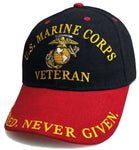 U.S. Marine Corps Hat, United States Marines Black Baseball Cap, Officially Licensed