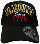 CLEARANCE U.S. Marine Corps Hat, United States Marines Black Baseball Cap, Since 1775, Officially Licensed
