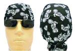 Black Motorcycle Doo Rag Skull Cap Harley Bandana Head Wrap Durag Cotton