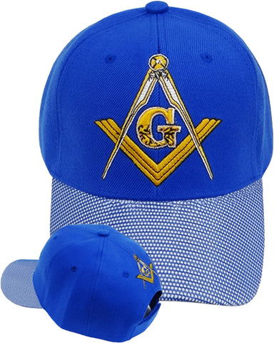 Mason Hat Blue Baseball Cap with Masonic Logo Freemasons Shriners Prince Hall Lodge Headwear