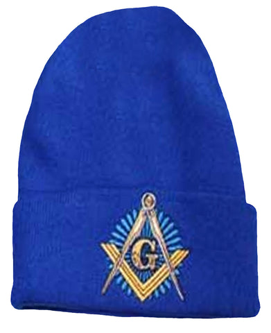 Mason Winter Beanie Blue Cuffed Skull Cap Watch Hat