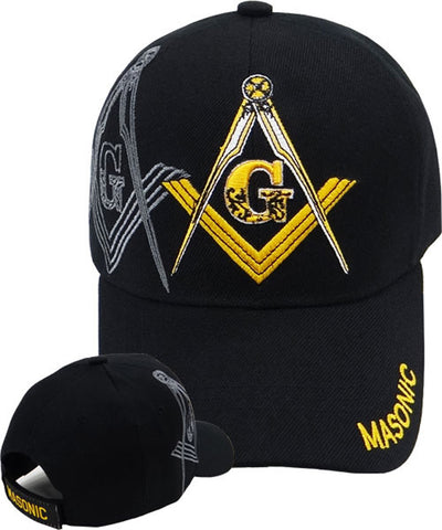 Mason Hat Black Baseball Cap with Masonic Logo Freemasons Shriners Prince  Hall Lodge Headwear 37741ebe585f