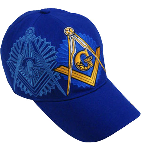 Mason Hat Blue Baseball Cap with Master Masonic Logo Freemasons Shriners Prince Hall Lodge Headwear