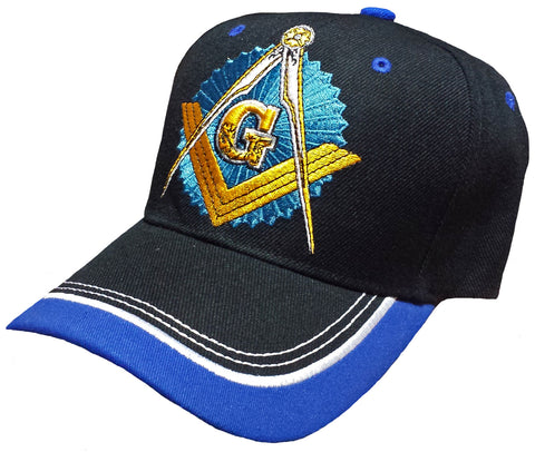 Mason Hat Black Baseball Cap with Master Masonic Logo Freemasons Shriners Prince Hall Lodge Headwear