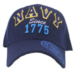US Navy Baseball Cap Black Military Since 1775 Hat for Men Women Vet