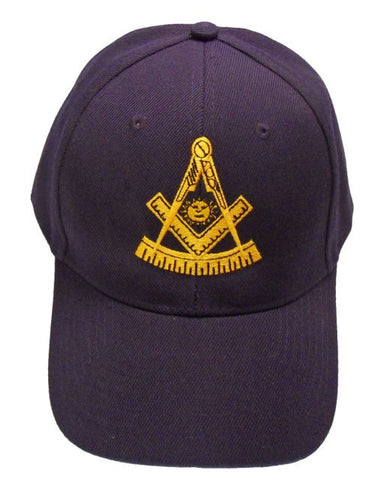 Mason Hat Navy Blue Past Master Baseball Cap with Masonic Logo Freemasons Shriners Prince Hall Lodge Headwear