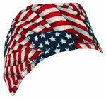 Nursing Scrub Hat Scrubs Cap, Cotton, Red White and Blue American Flag Patriotic