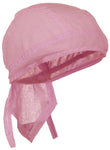 CLEARANCE Pink Solid Doo Rag Headwrap Durag Skull Cap Cotton Sporty Motorcycle Hat