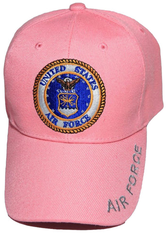 US Air Force YOUTH Hat Pink with Logo Kids Baseball Cap Military Children