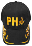 PRINCE HALL MASON Baseball Cap Black and Gold Hat Masonic Black History